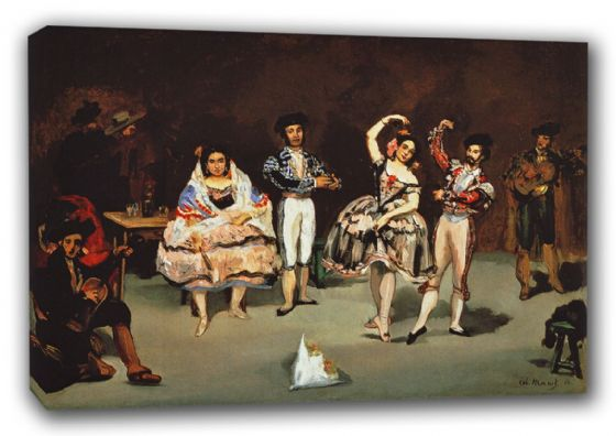 Manet, Edouard: The Spanish Ballet, 1862. Fine Art Canvas. Sizes: A3/A2/A1 (00177)